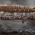 Steampunk - Blimp - Airship Maximus  by Mike Savad