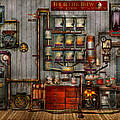 Steampunk - Coffee - The Company Coffee Maker by Mike Savad