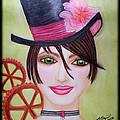 Steampunk Girl by Absinthe Art By Michelle LeAnn Scott