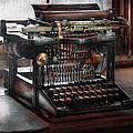 Steampunk - Typewriter - A Really Old Typewriter  by Mike Savad