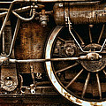 Steampunk- Wheels Of Vintage Steam Train by Daliana Pacuraru