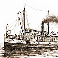 Steamship Bellingham Sepia by James Williamson