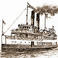 Steamship Tacoma Sepia by James Williamson