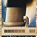 Steamship Travel Poster by Granger