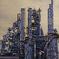 Steel Mill - Bethlehem Pa by Bill Cannon