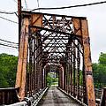 Steel Span Railroad Bridge Manayunk  Philadelphia Pa by Bill Cannon