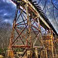 Steel Strong Rr Bridge Over The Yellow River by Reid Callaway