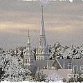 Steeples In The Snow by Nadalyn Larsen