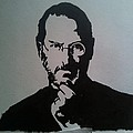 Stencil -steve Jobs by Sanith Raj S