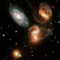 Stephan's Quintet Galaxies by Nasa/esa/stsci/hubble Sm4 Ero Team/science Photo Library