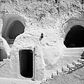 steps from the courtyard up to the entrance of the caves at the Sidi Driss Hotel underground at Matmata Tunisia scene of Star Wars films by Joe Fox
