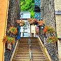 Steps Of Old Quebec by Mel Steinhauer