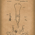 Stethoscope 1882 Patent Art Brown by Prior Art Design