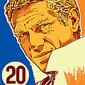Steve Mcqueen Pop Art - 20 by Jim Zahniser