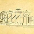 Stevens Roller Coaster Patent Art  2 1884 by Ian Monk