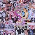 Stevie Nicks Art Collage by Donna Wilson