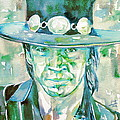Stevie Ray Vaughan- Watercolor Portrait by Fabrizio Cassetta