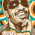 Stevie Wonder Pop Art by Jim Zahniser