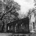St.helena Chapel Of Ease Bw 1 by Steven  Taylor