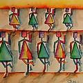 Stickwomen Performers by Elaine Duras