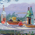 Still Life And Seashore Bandol by Sarah Butterfield