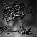 Still Life Clay Pitcher With 13 Daisies by Jose A Gonzalez Jr