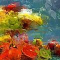 Still Life Fruits In Vase by Yury Malkov