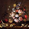 Still Life Of A Vase Of Flowers by Balthasar van der Ast