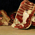 Still Life Of Sheep's Ribs And Head by Francisco Jose de Goya y Lucientes