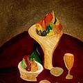 Still Life On A Red Table by Bill OConnor