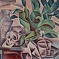 Still Life Showing Skull by Kubista Bohumil