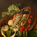 Still Life With A Basket Of Fruit by Mountain Dreams