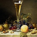 Still Life With A Glass Of Champagne by Johann Wilhelm Preyer