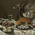 Still Life With A Turkey Pie by Pieter Claesz