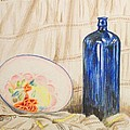 Still-life With Blue Bottle by Alan Hogan