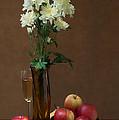 Still Life With Chrysanthemums by Anatoliy Spiridonov