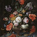Still Life With Flowers And Watch by Abraham Mignon