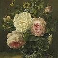 Still Life With Flowers by Jacoba van de Sande Bakhuyzen