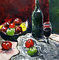 Still Life With Fruits And Wine by Paul Sutcliffe