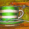 Still Life With Green Stripes And Saddle  by Mark Jones