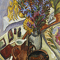 Still Life With Jug And African Bowl by Ernst Ludwig Kirchner