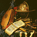 Still Life With Musical Instruments Oil On Canvas by Flemish School