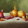 Still Life With Onions And Grapes by Jason Walcott