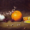 Still Life With Orange And Egg by Jason Walcott