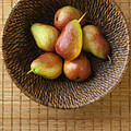 Still Life With Pears And A Rattan Bowl. by Diane Diederich