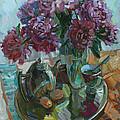 Still Life With Peonies by Juliya Zhukova