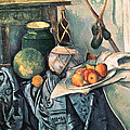 Still Life With Pitcher And Aubergines Oil On Canvas by Paul Cezanne