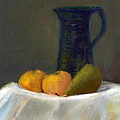 Still Life With Pitcher And Fruit by Sandy Linden