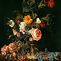 Still Life With Poppies And Roses by Willem van Aelst