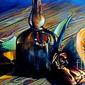 Still Life With Pumpkin And Tulips by Alessandra Andrisani